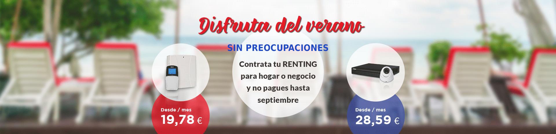 renting seguridad hogar, cctv y alarmas